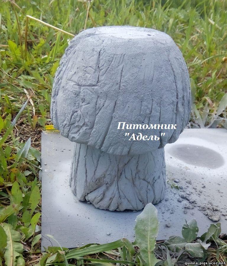 Как сделать гриб из цемента для сада 133
